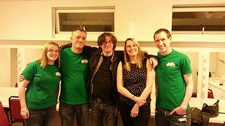 Ed Byrne with the fundraisers